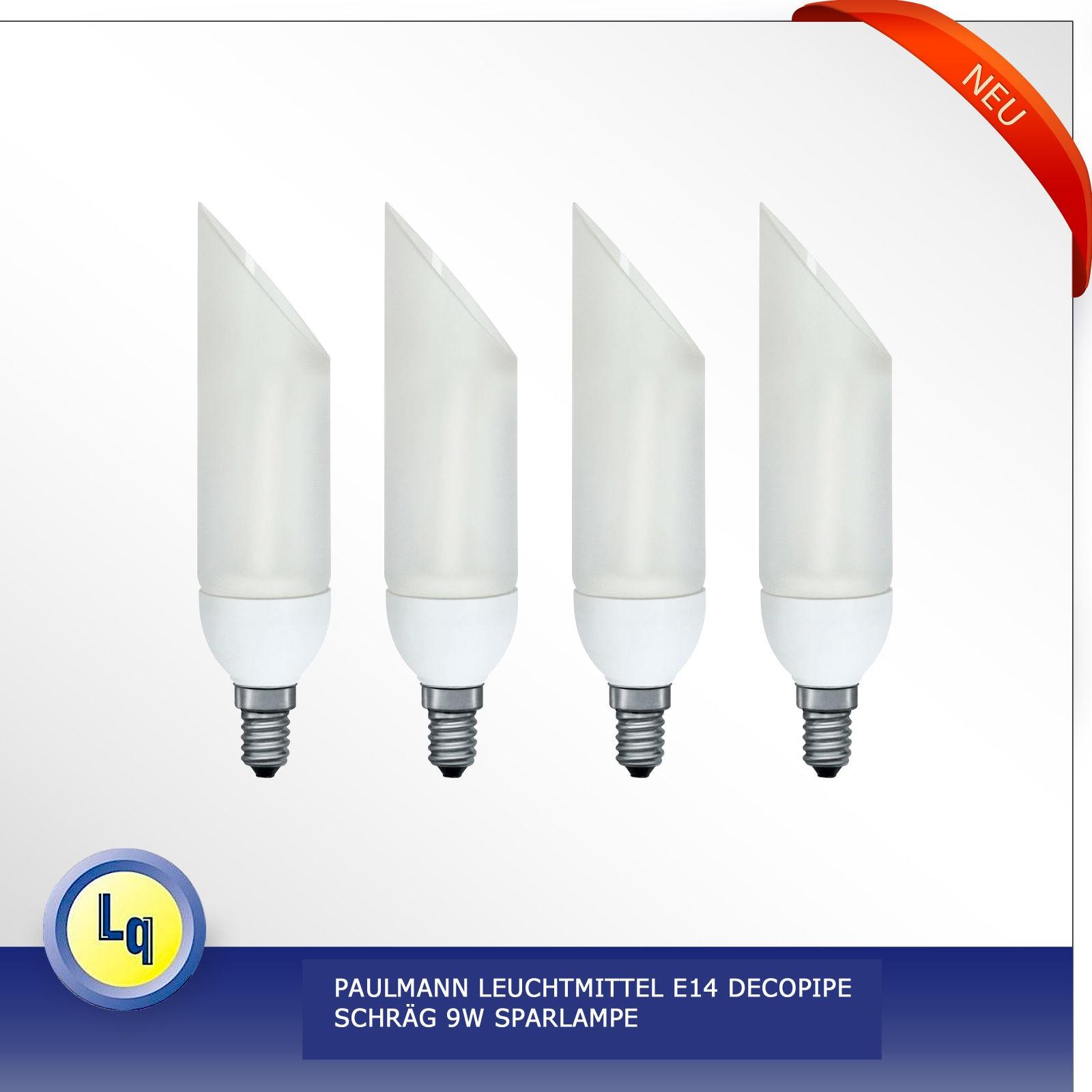 4x paulmann leuchtmittel e14 decopipe schr g 9w sparlampe ebay. Black Bedroom Furniture Sets. Home Design Ideas