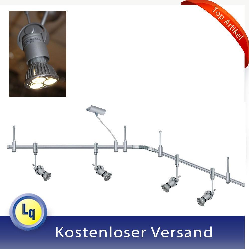 paulmann schienensystem leuchten set power led leuchtmittel 4x3w 230v gu10 lampe ebay