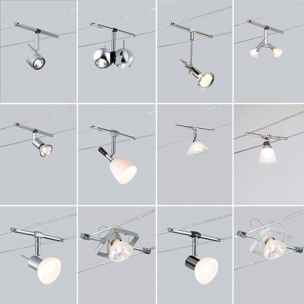 paulmann seilsysteme 160mm seilabstand seilspots halogen led 12v ebay. Black Bedroom Furniture Sets. Home Design Ideas