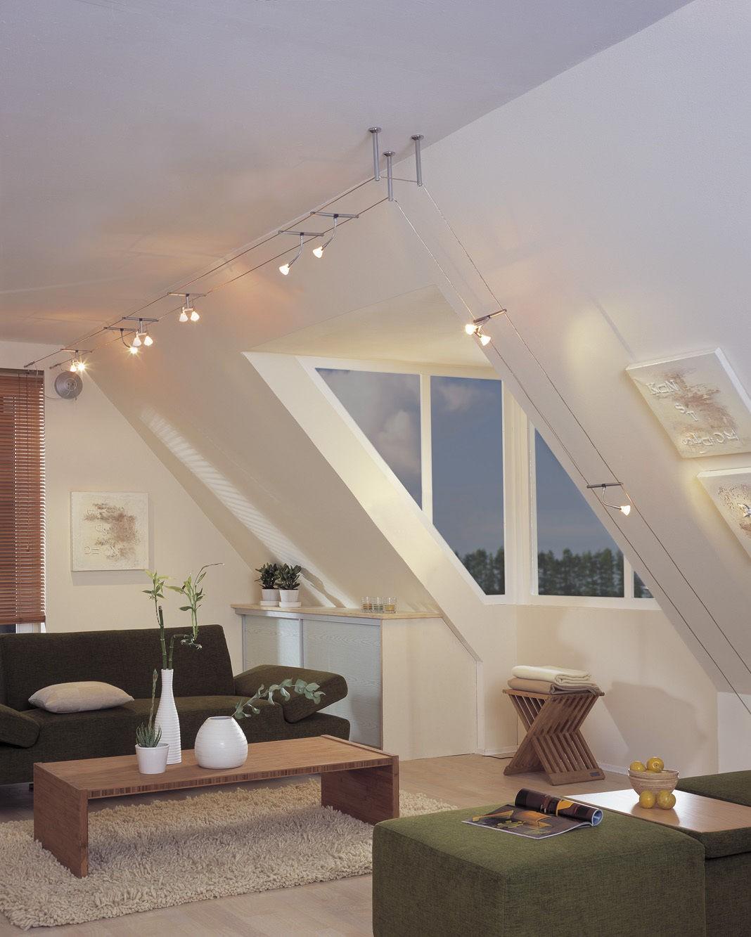 paulmann halogen seil spot 12v seilsystem 160mm seilabstand gu5 3 gu4 g4 ebay. Black Bedroom Furniture Sets. Home Design Ideas