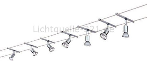 paulmann seilsystem spice salt 150 7x20w 12v seilsysteme seil komplett set. Black Bedroom Furniture Sets. Home Design Ideas