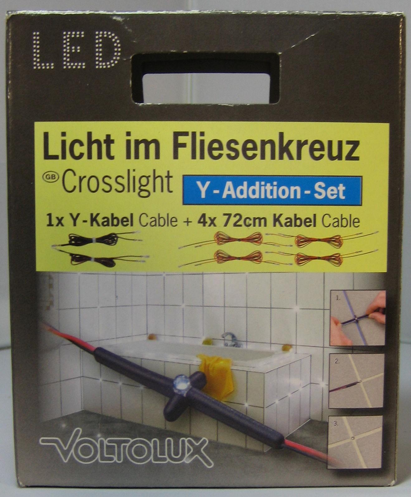 fliesen fugen kreuz led einbauspot licht beleuchtung fugenlicht fliesenlicht ebay. Black Bedroom Furniture Sets. Home Design Ideas